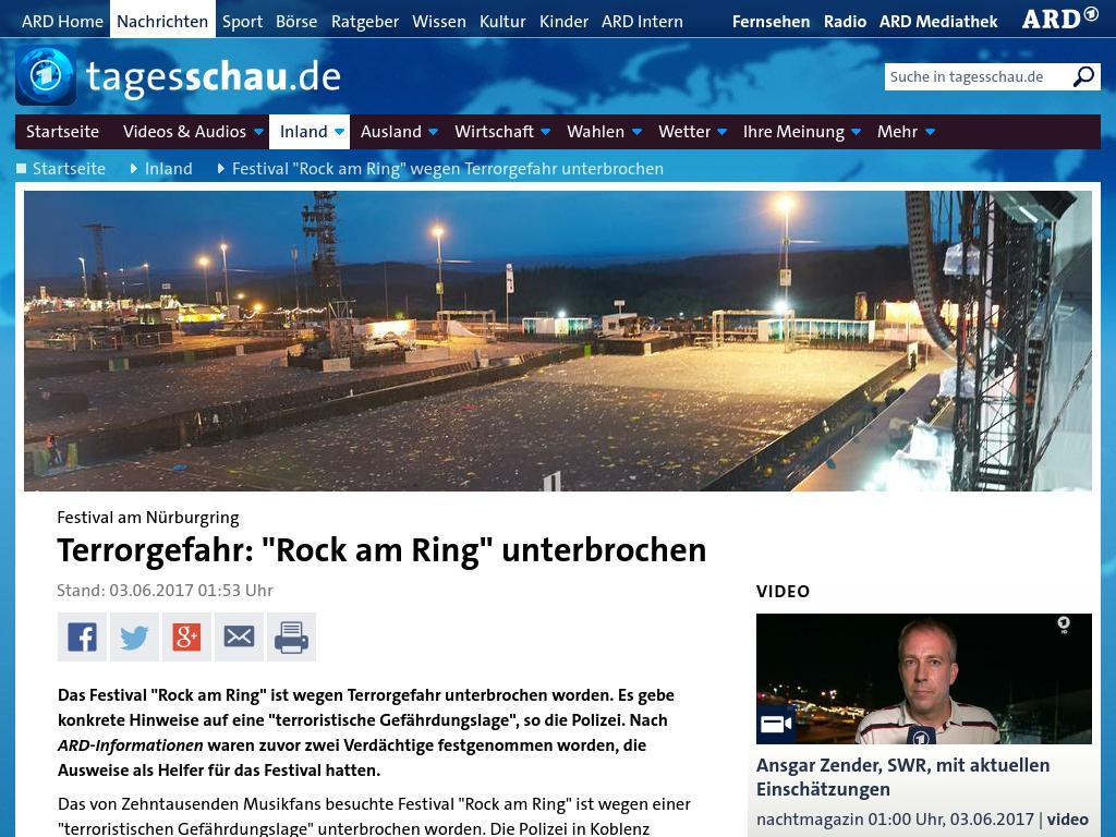 Sa03062017 03 Rock Am Ring Ist Gestern Wegen Terrorwarnung